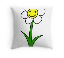 Cute happy flower Throw Pillow