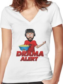 Drama Alert (Keemstar) popcorn tshirts, hoodies and more Women's Fitted V-Neck T-Shirt