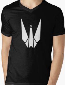 Paper Origami Crane Mens V-Neck T-Shirt