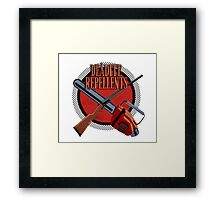 DEADITE REPELLENTS Framed Print