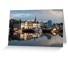Stornoway Harbour Isle of Lewis Outer Hebrides Scotland UK Greeting Card