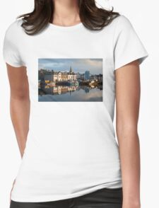 Stornoway Harbour Isle of Lewis Outer Hebrides Scotland UK Womens Fitted T-Shirt