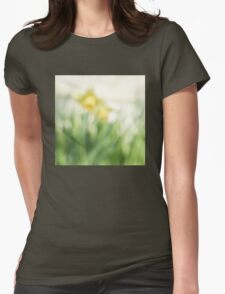 Soft daffodils Womens Fitted T-Shirt