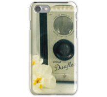 Floral Duaflex, vintage camera iPhone Case/Skin
