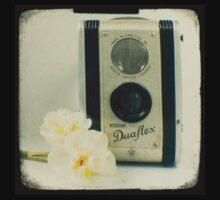 Floral Duaflex, vintage camera One Piece - Long Sleeve