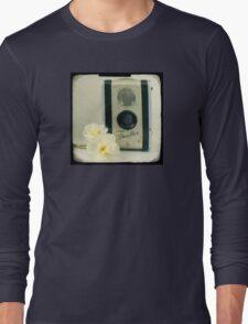 Floral Duaflex, vintage camera Long Sleeve T-Shirt