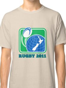 rugby new zealand map ball 2011 Classic T-Shirt