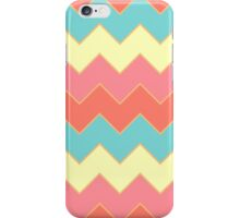 Summery Colorful Zigzag Chevron Pattern iPhone Case/Skin