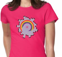 Rainbow Web Wheel Womens Fitted T-Shirt