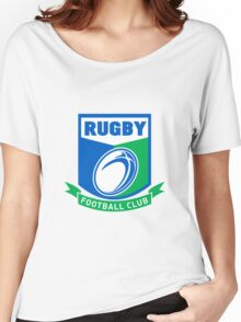 rugby ball and shield Women's Relaxed Fit T-Shirt