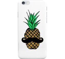 Funny Tropical Pineapple with Mustache iPhone Case/Skin