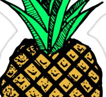 Funny Tropical Pineapple with Mustache Sticker