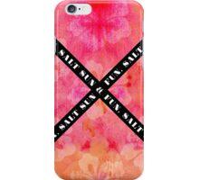 """Salt Sun & Fun"" Typography on Watercolor Hibiscus iPhone Case/Skin"