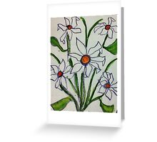 Bouquet of white flowers in watercolor Greeting Card