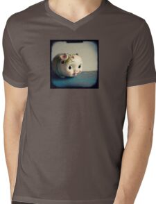 Pretty piggy - vintage china piggy bank photograph Mens V-Neck T-Shirt