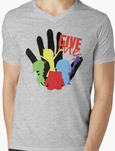 HI FIVE! Mens V-Neck T-Shirt