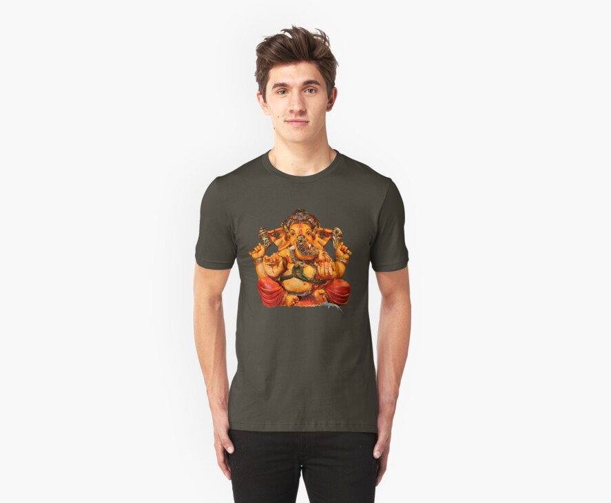Lord Ganesha T-Shirt by RIYAZ POCKETWALA