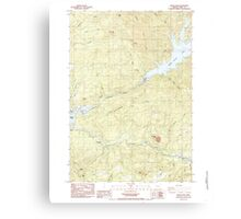 USGS Topo Map Oregon Green Peter 280097 1984 24000 Canvas Print