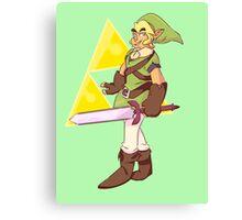 The Legend of Zelda Link Design Canvas Print