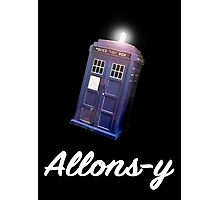 """Allons-y!"" Public Call Box. Photographic Print"