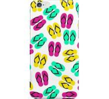 Cute Summer Neon Flip Flops Pattern iPhone Case/Skin