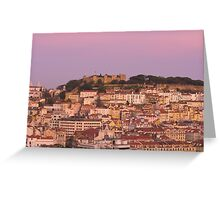 Castle Sao Jorge Lisbon Portugal Greeting Card