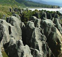 Pancake Rocks at Punakaiki by orkology