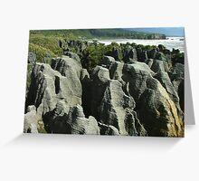 Pancake Rocks at Punakaiki Greeting Card