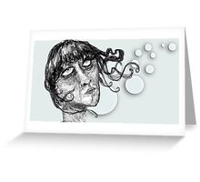 The drawn face Greeting Card