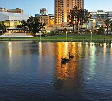Adelaide City River Torrens by JaninesWorld