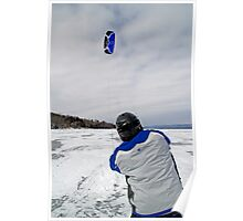Kite Skiing - Ottawa River Poster