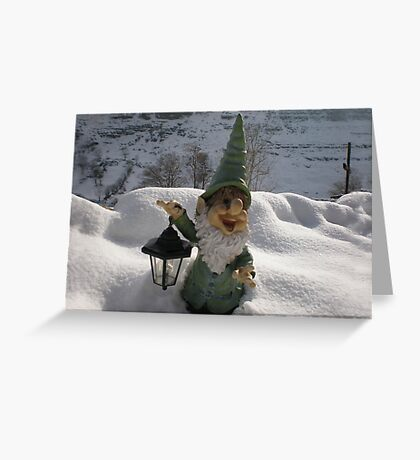 Gnome in the Snow Greeting Card