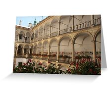 Italian Courtyard Greeting Card