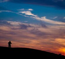 Sunset Cycling Sillhouettes by trooper72
