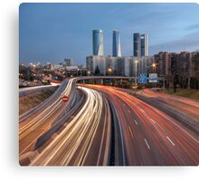 The Veins Of Madrid: M-607 Highway  Canvas Print