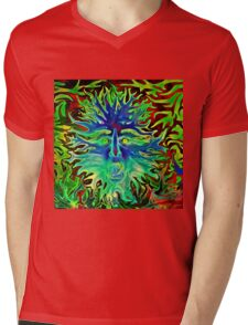Psychedelic Sunshine Mens V-Neck T-Shirt
