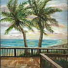 Boardwalk with Two Palms by Janis Lee Colon