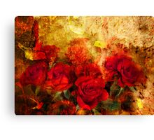 Textured Roses Canvas Print