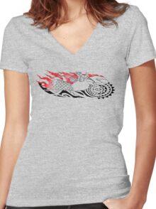 tattooist hands Women's Fitted V-Neck T-Shirt