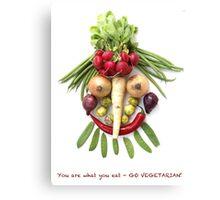GO VEGETARIAN! Canvas Print