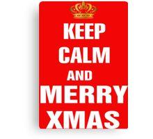 Keep Calm and Merry Xmas Canvas Print