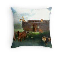 Disembarking The Ark Throw Pillow