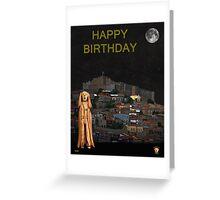 The Scream World Tour Molyvos Lesvos Greece Happy Birthday Greeting Card