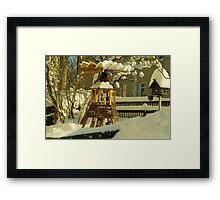 Winter in Front Garden Framed Print
