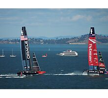 The America's Cup was a close race..... Photographic Print