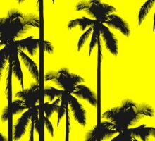 Colorful Summer Neon Yellow & Tropical Palm Trees Sticker