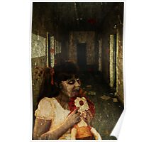 Zombie Girl With Doll Poster