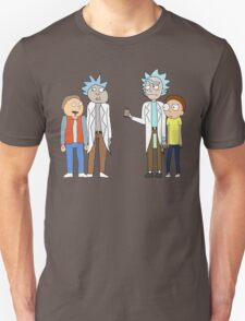 Doc and Mharti and Rick and Morty Unisex T-Shirt