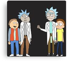 Doc and Mharti and Rick and Morty Canvas Print