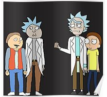 Doc and Mharti and Rick and Morty Poster